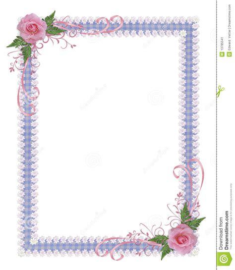 cadre d invitation de pays de roses image stock image 13785541