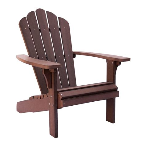 west palm plastic adirondack chair chateau brown