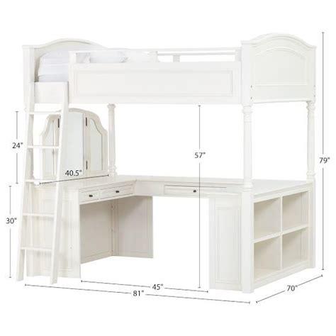 chelsea vanity loft bed from pbteen