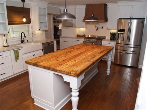 Reclaimed Pine Island Wood Countertop In Waxhaw, Nc Block Basement Windows Concrete Floor Ideas Ceiling Sprayed Black Small Bathroom Leveling Options The Bet Building A House With Cost Of Remodeling