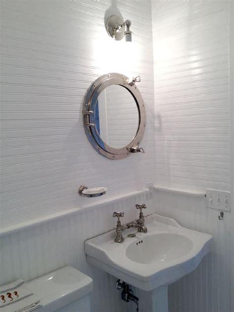 porthole medicine cabinet cottage bathroom