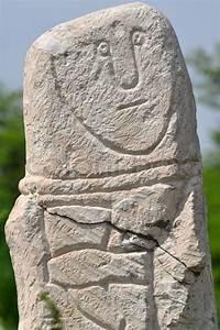 Stock image of 'Kurgan stelae in the ukrainian steppe ...