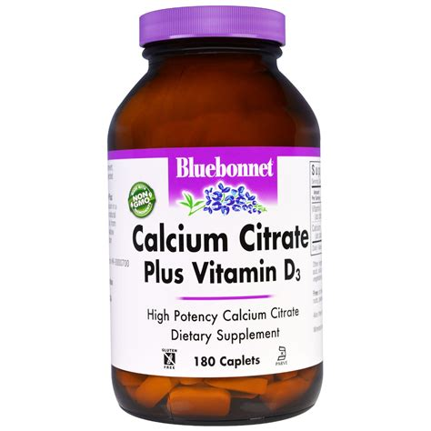bluebonnet nutrition calcium citrate plus vitamin d3
