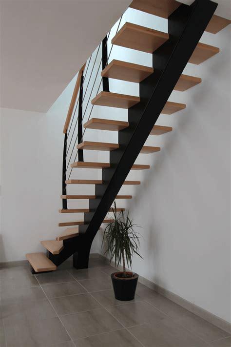 escalier tournant un quart escalier m 233 tallique et bois