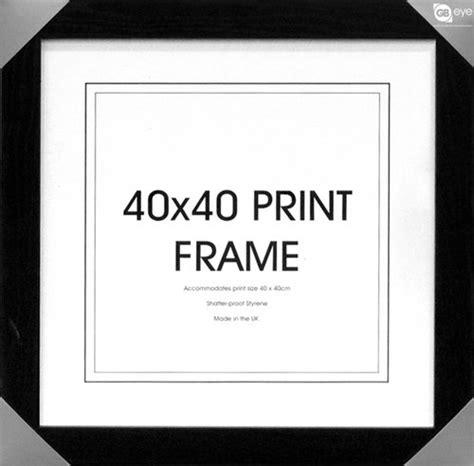 cadre 40x 40 boutique silver