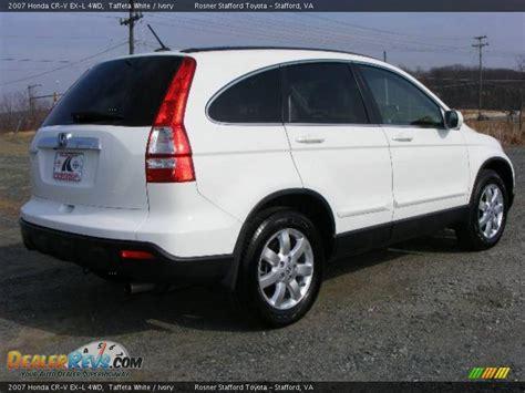 2007 Honda Cr-v Ex-l 4wd Taffeta White / Ivory Photo #3