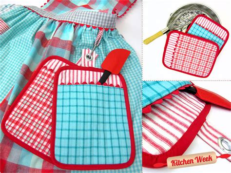 Combo Hot Pad-oven Mitt Vintage Style