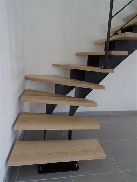 escalier acier 1 4 tournant limon central marches en fr 234 ne massif