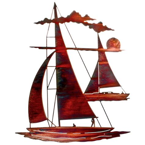 24 quot catch n sail floating sailboat metal wall