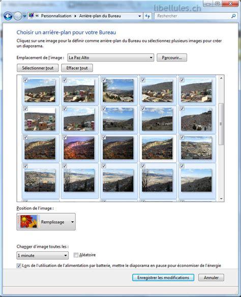 windows 7 cr 233 er un diaporama sur votre bureau le de fr o