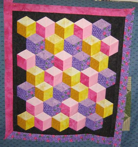 Tumbling Block Quilt Pattern Template by Free Tumbling Block Quilt Pattern Free Patterns Baby