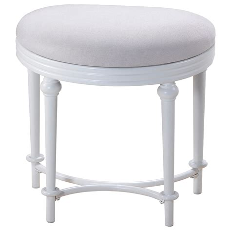 hillsdale vanity stools oval vanity stool with upholstered white seat boulevard home