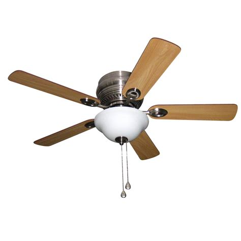 shop harbor mayfield 44 in brushed nickel flush mount indoor ceiling fan with light kit