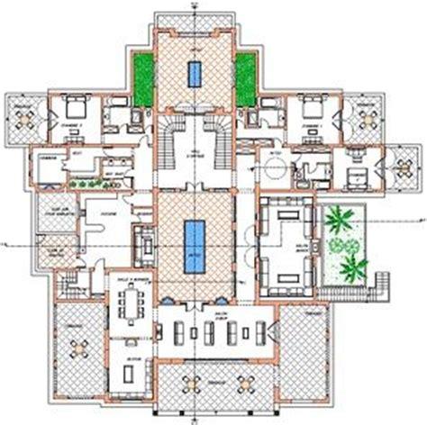 plan of villa ground floor oasis bab atlas marrakech moroccan home style decor