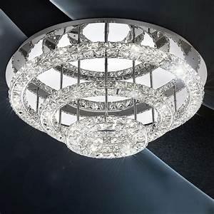 Deckenlampe Mit Led : licht trend led deckenlampe kristall 75cm chrom online kaufen otto ~ Whattoseeinmadrid.com Haus und Dekorationen