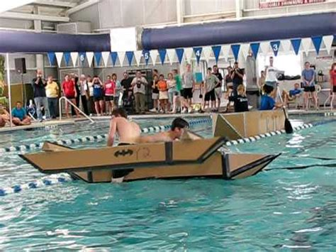 How To Make A Cardboard Boat With Only Duct Tape by Cardboard Boat Race Fail Youtube