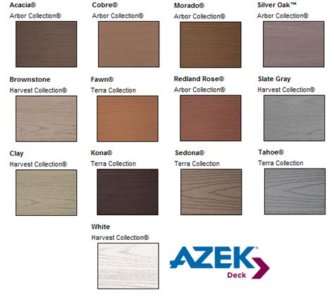 composite deck colors