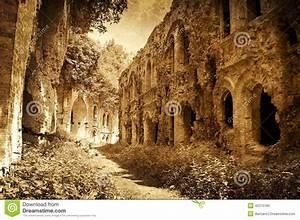 Ruins Of Ancient Fort, Ukraine, Artistic Image Stock Photo ...