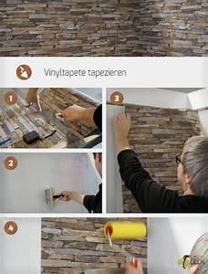 Möbel Tapezieren Anleitung : vinyltapete tapezieren anleitung ~ Markanthonyermac.com Haus und Dekorationen