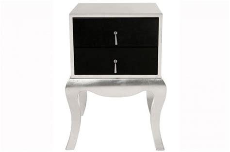 chevet baroque argent et noir luxury tables de chevets pas cher