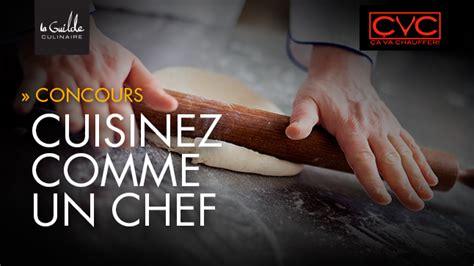 concours cuisinez comme un chef