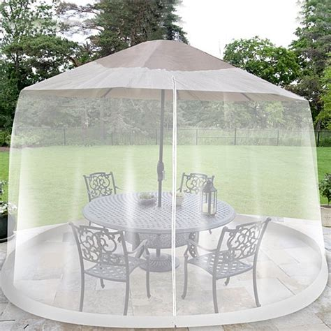 umbrella table screen insect cover outdoor patio bug netting 9 ft mosquito net ebay