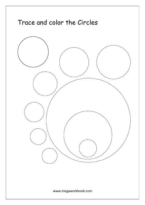 Free Shapes Worksheets  Trace And Color Shapes Megaworkbook