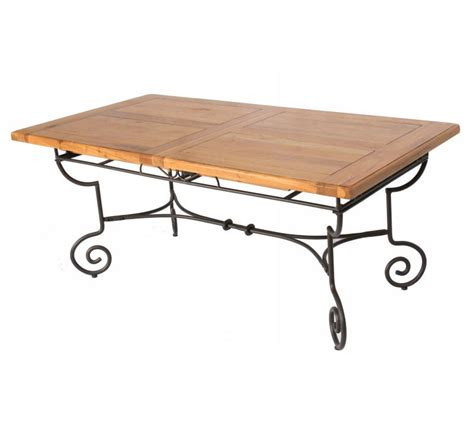 table rectangulaire batista fer forg 233 bois 1475