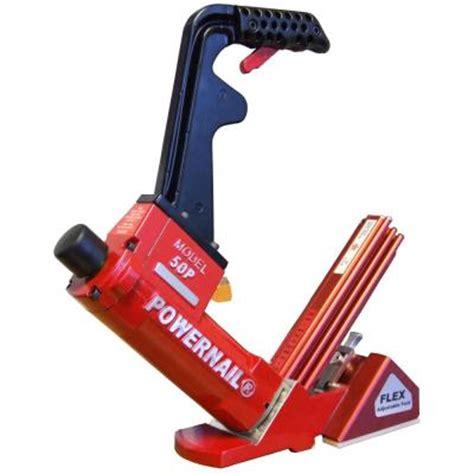 powernail flex pneumatic 18 hardwood flooring cleat nailer 50pflexw the home depot