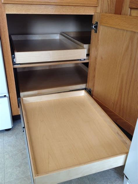 blind corner cabinet pull out shelves woodworking projects plans