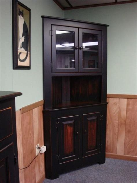 Corner China Cabinet Black  Woodworking Projects & Plans