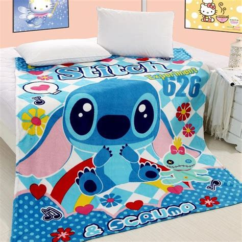 lilo and stitch air conditioning blanket coral fleece blanket baby blanket promotion single