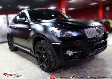 E71 Bmw X6 Semi-matte Black Wrap