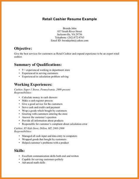 Retail Resume Objective Sample  Resume Ideas