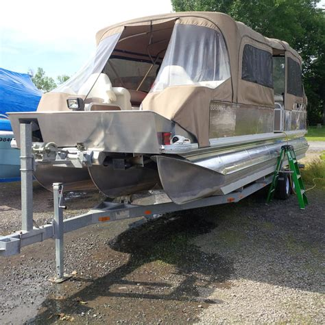 Pontoon Boats For Sale Quebec by Best Southland 26ft Pontoon Boat With Trailer For Sale For