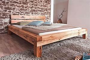 Bett Sonoma Eiche 160x200 : massivholz bett 160x200 balkenbett rustikal doppelbett wildeiche ge lt ~ Whattoseeinmadrid.com Haus und Dekorationen