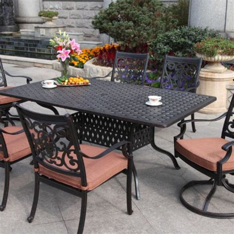 darlee st 6 person cast aluminum patio dining set