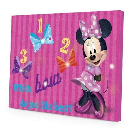 disney minnie mouse led canvas wall room decor baby decoration ebay