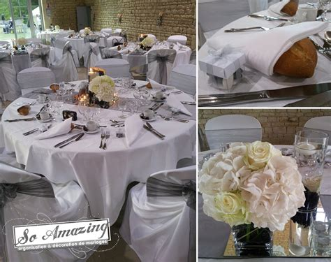 decoration mariage blanc argent le mariage