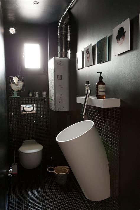 17 meilleures id 233 es 224 propos de salles de bain noires sur salles de bains sombres