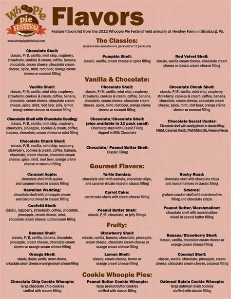 cake flavors list whoopie pie flavors whoopie pie festival