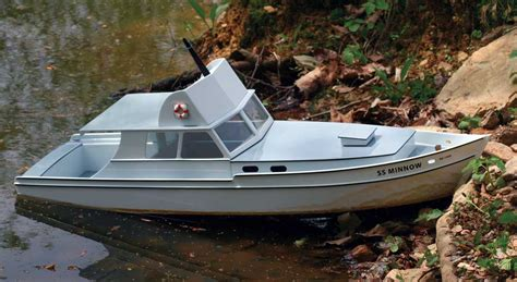 Toy Rc Fishing Jet Boat by Project Scratch Built S S Minnow Rc Boat Magazine