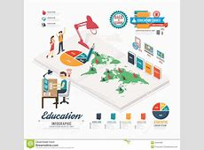 Infographic Education Template Design Isometric Concept