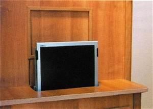 Sideboard Tv Versenkbar : tft halter elektrisch vertikal ausfahrbar 49379 ~ Markanthonyermac.com Haus und Dekorationen