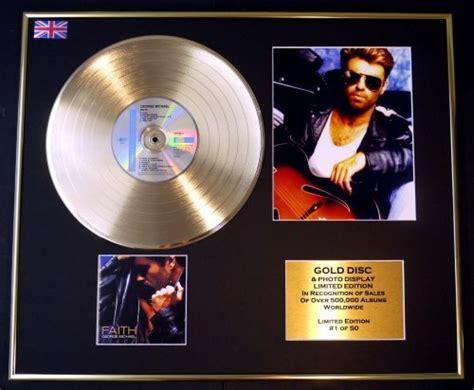 george michael cadre disque d or vinyle photo et livret edition limitee certificat d