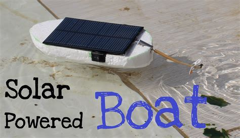 Solar Powered Toy Boat by How To Make A Solar Powered Boat Simple Tutorial Youtube