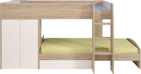 parisot stim bunk bed with 2 door wardrobe the home and office stores