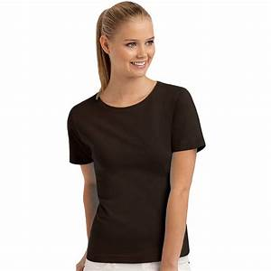 Hanes Womens Ladies Short Sleeve Casual Plain Cotton T ...