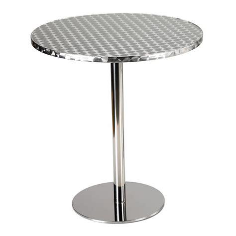 table de bar aluminium et inox