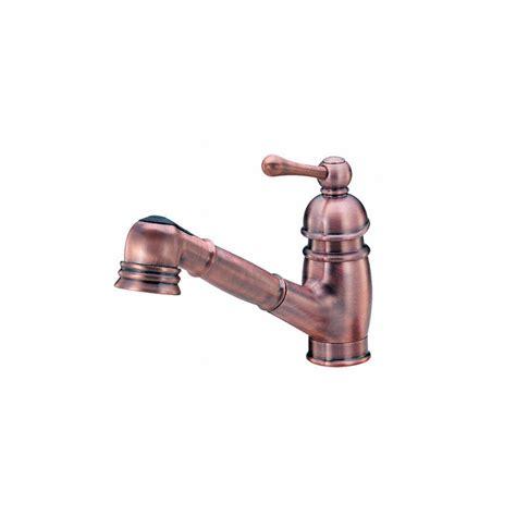 shop danze opulence antique copper 1 handle pull out kitchen faucet at lowes